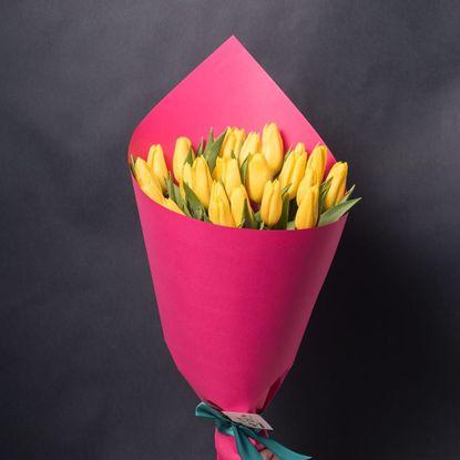 Изображение 25 жовтих тюльпанів
